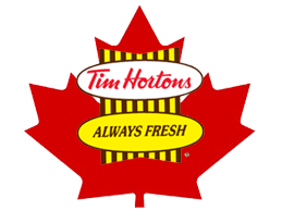 Tim Hortons doughnuts and burgers